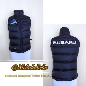 Columbia SUBARU Embroidered Black Puffy Vest.